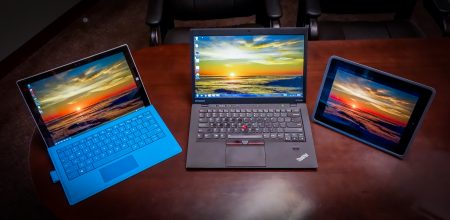 Microsoft Surface Pro 3 : Lenovo X1 Carbon : Apple iPad 4