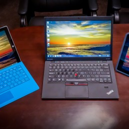 Microsoft Surface Pro 3 : Lenovo X1 Carbon : Apple iPad 4