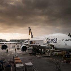 Frankfurt Airport : Lufthansa Airbus A380: 2015-02-08