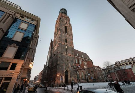 Wrocław, Poland : Church near Rynek : 2015-02-08