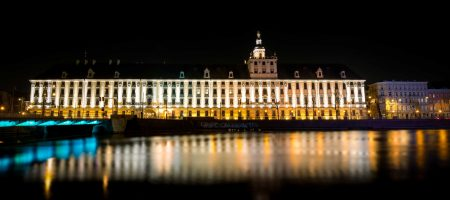 Wrocław, Poland : Wrocław University At Night : 2015-02-13