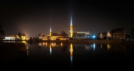 Wrocław, Poland : Cathedral of St. John the Baptist At Night 3 : 2015-02-13