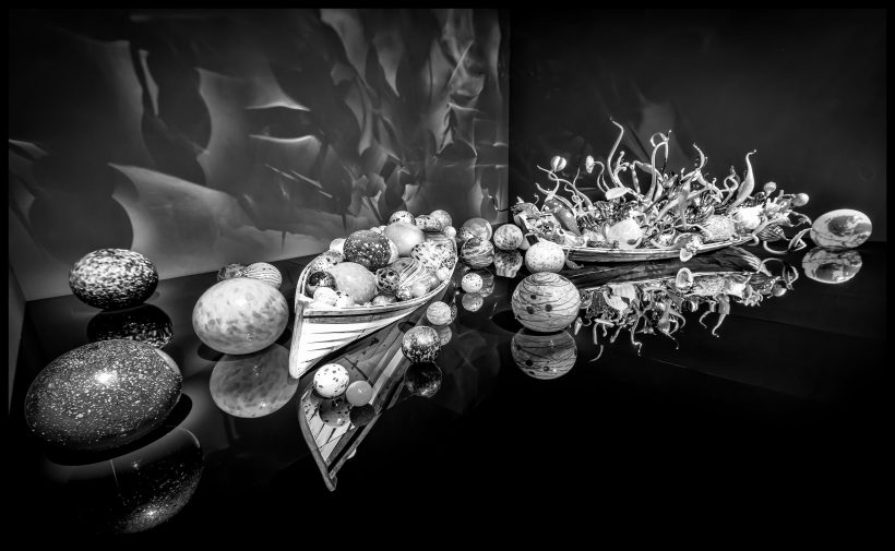 Dale Chihuly Glass Art : 2013-01-05 : Boats BW