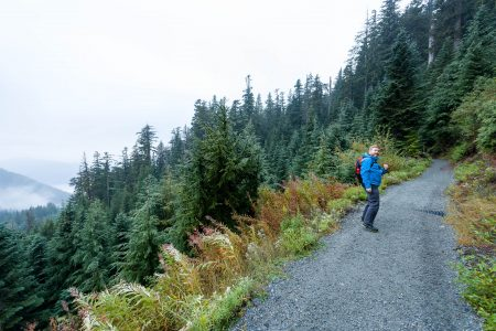 Saint Marks Summit Hike - Sept 2016 - Trail and Andrew
