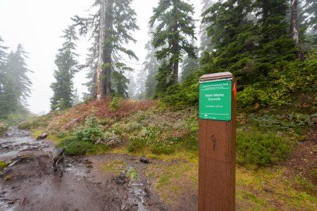 Saint Marks Summit Hike - Sept 2016 - Summit Trail Marker