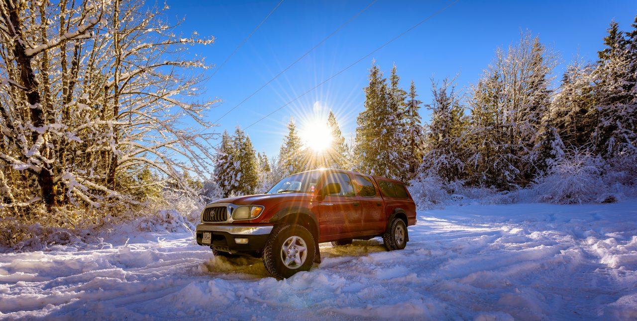 Squamish Bald Eagles : 2016-01-02 : Nikon D810 & Nikkor 14-24 : Toyota Tacoma Glory