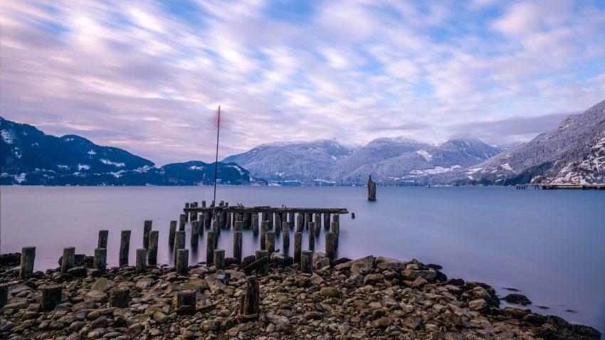 Squamish Bald Eagles : 2016-12-12 : Nikon D810 & Nikkor 24-70 : Beach Long Exposure