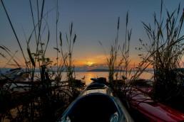 Kayak Camping Sunset, Valdes Island, Canada