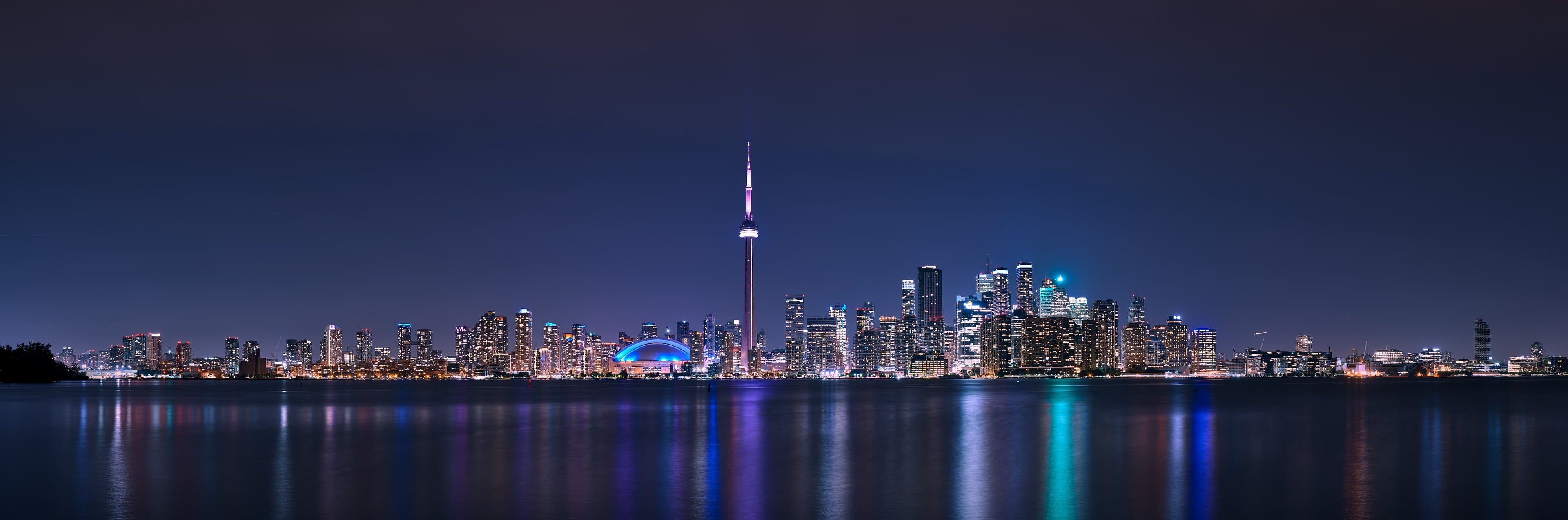 Downtown Toronto Panorama at Night