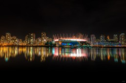 Vancouver Skyline at Night, Vancouver, Canada